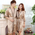 Summer Silk Couples Robe Sexy Thin Section Bathrobes Silk Cardigan Male and Female Bathrobe High Quality Pajamas Home Service