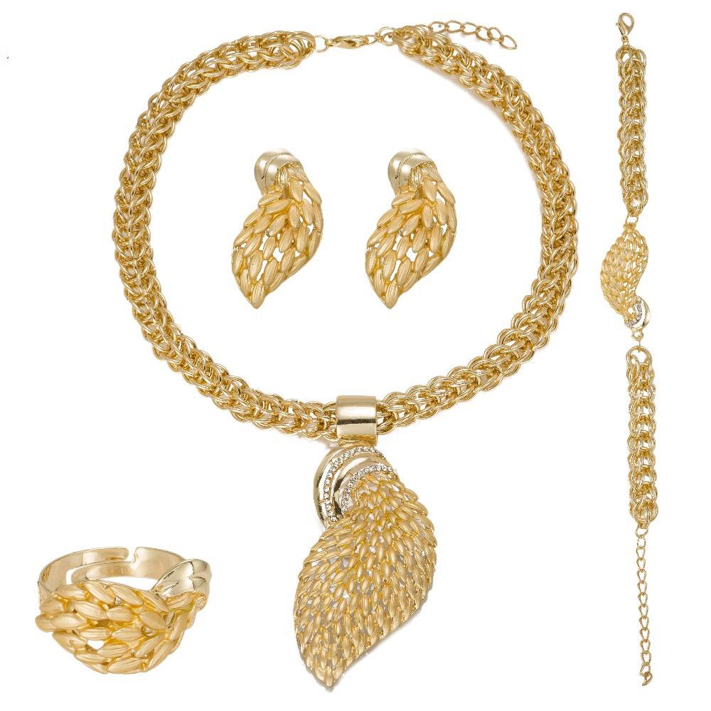 MUKUN ženski nakitni kompleti zlata barva modna izjava ogrlica Dubai - Modni nakit - Fotografija 6