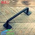 Venta caliente de la vendimia y retro hierro acero granero puerta corredera de madera maneja