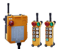 F24 6D AC/DC18V 65V(2 Transmitter + 1 Receiver) 2 Speed Wireless Remote Control Electric Chain Hoist Crane Controller