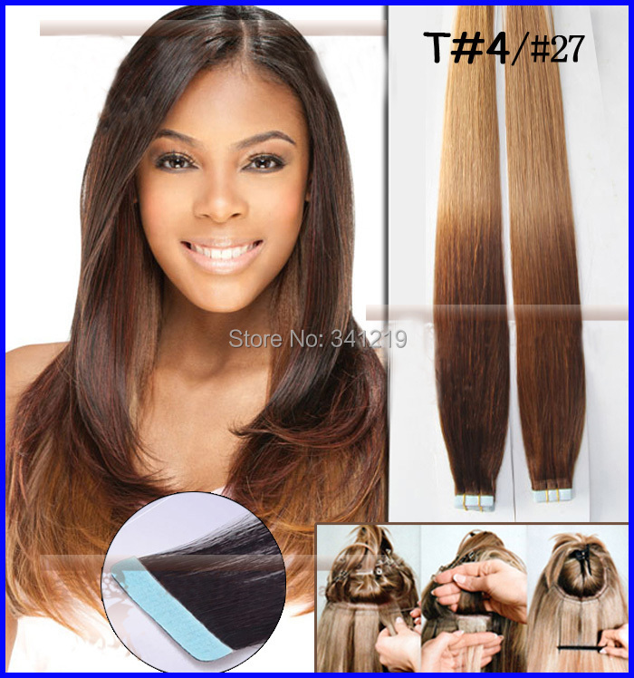 Aliexpress Uk Hot Straight Indian Remy Tape Hair Extensions T427