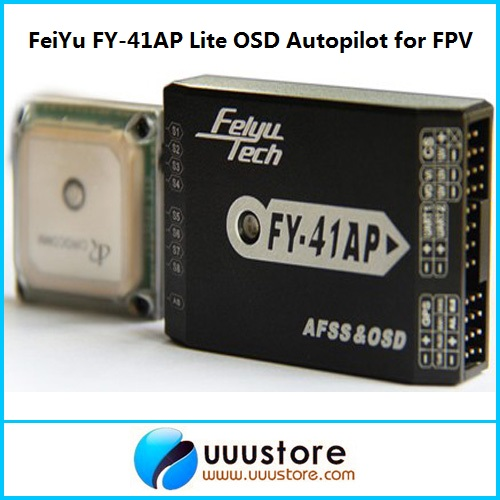 FeiYu FY-41AP FY-41AP-M FY-41AP-A Lite OSD Autopilot Flight control System For FPV Fixed Wing and Quadcopter Hexrcopter f2s flight control with m8n gps t plug xt60 galvanometer for fpv rc fixed wing aircraft