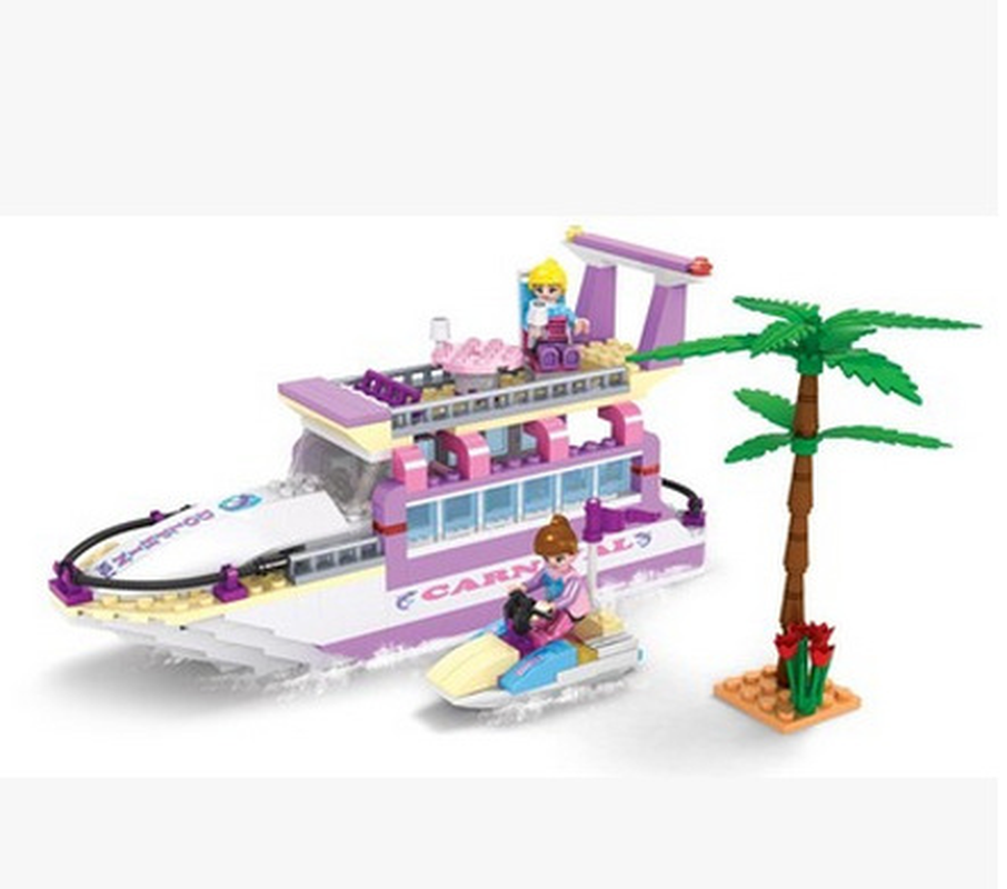Children Education Toys 318Pcs City Girl Friends Dolphin Cruiser Yacht Building Block Compatible Brick Toy 14508 Legoings