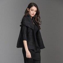 Jackets Miyake Solid Loose for Women 45-75kg-spring/New/Miyake/.. Small Plus-Size