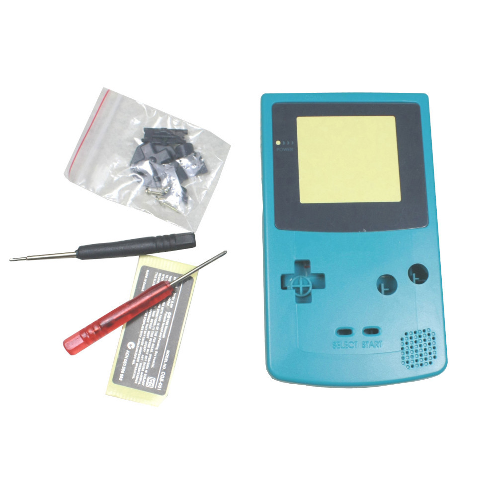 Blue Full Housing Shell Case Cover Replacement for Nintendo GBC Gameboy Color Console