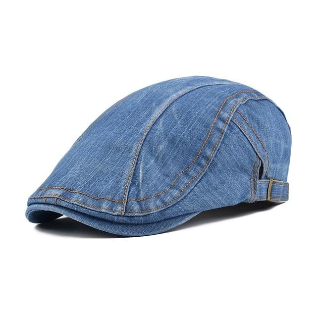 abae0b29541 VOBOOM Cotton Newsboy Caps Beret Men Women Washed Denim Gatsby Flat Cap  Vintage Ivy Hat Adjustable