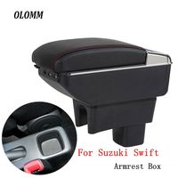 Armrest box For Suzuki Swift 2005 2018 central Store content Storage box with cup holder ashtray accessories