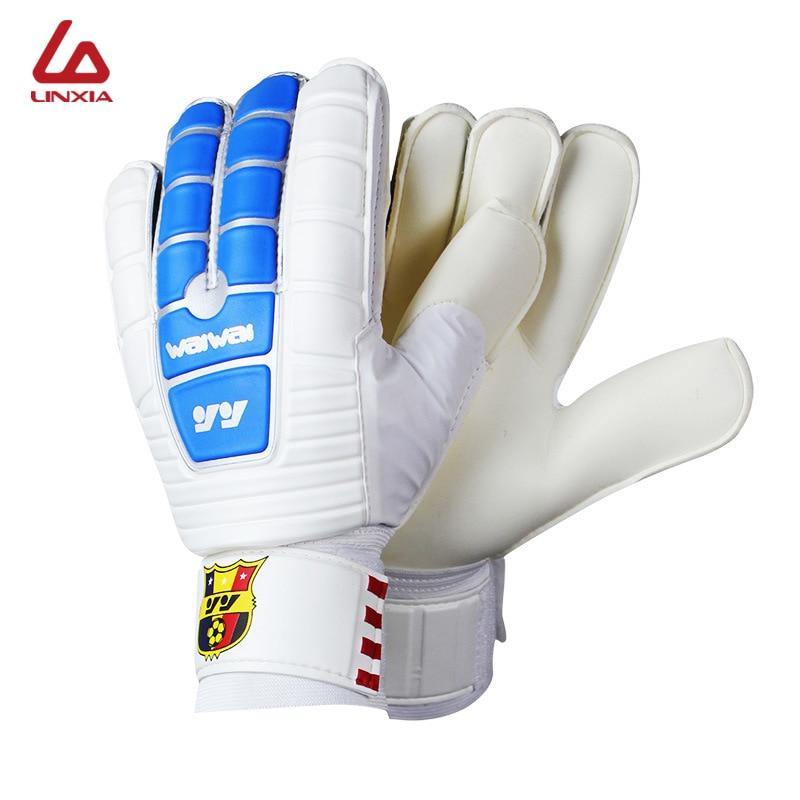 2018 profissional futebol guarda-redes glvoes látex dedo proteção antiderrapante masculino futebol luvas futbol luva de goleiro