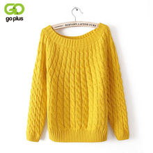 GOPLUS Summer Style 2016 Women Vintage Knitted Sweater O-necked  Candy Color Knit Women Pullovers Sweater Loose Sweaters C2820
