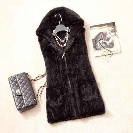 echt woman hoodie dame size vk1363 mit echt nerz topfurmallfrauen winter braunschwarz weste warm gestrickte plus pelz 3Rqj5AL4c