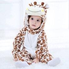 SAILEROAD кигуруми с мультяшным жирафом для маленьких детей; карнавальный костюм с мультяшными животными; теплый мягкий фланелевый Нарядный комбинезон; милая Пижама; боди