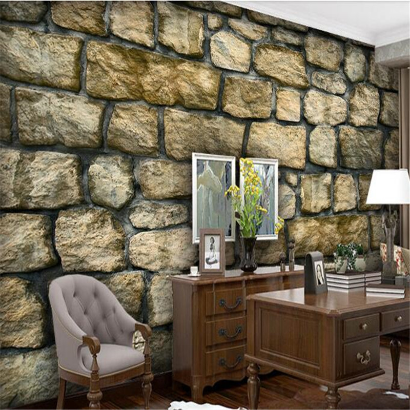 Us 21 49 50 Off Deep Embossed 3d Wallpapers Brick Stone Wall Murals Vintage Wallpapers For Living Room Tv Rustic Bar Ktv Wall Papers Home Decor In