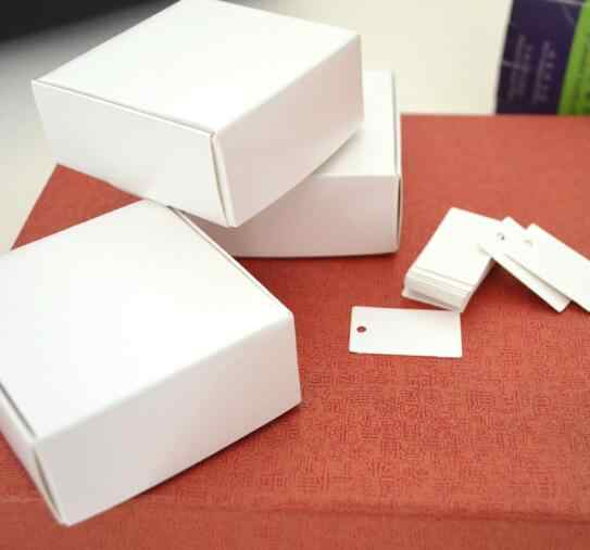 50pcs Small Blank White Cardboard Paper Wedding Gift Packaging Box White Paper Gift Box Handmade Soap Paper Box