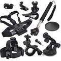 Head Chest Kit Mount For Sony Action Cam HDR AS20 AS15 AS100V AS30V AZ1 mini AS200V FDR-X1000V/W 4K  for JVC Adixxion GC-XA2 XA1