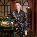 Size 48-56 Autumn Winter Luxury Dragon Print Suits 3 Pieces Set Gold Velvet Blazer Shirt Trousers Slim Fit Party Costume