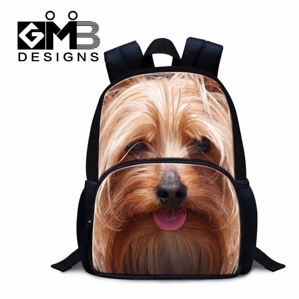 Детская школьная Рюкзаки Малый обратно в schol Back Pack для детская одежда для девочек собака Bookbag животных мини с принтом Mochila для маленькой дево...