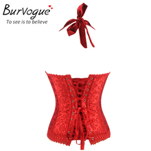 Woman corset / black / red lace with straps