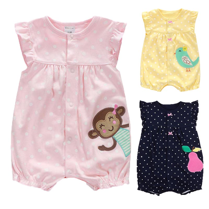 Newborn Baby Clothes Summer Baby Girls Rompers Roupas Bebe Cotton Infant Jumpsuits Sleeveless Baby Girls Clothes Kids Clothes baby rompers summer baby boy clothes gentleman newborn baby clothes infant jumpsuits roupas bebe baby boy clothing kids clothes