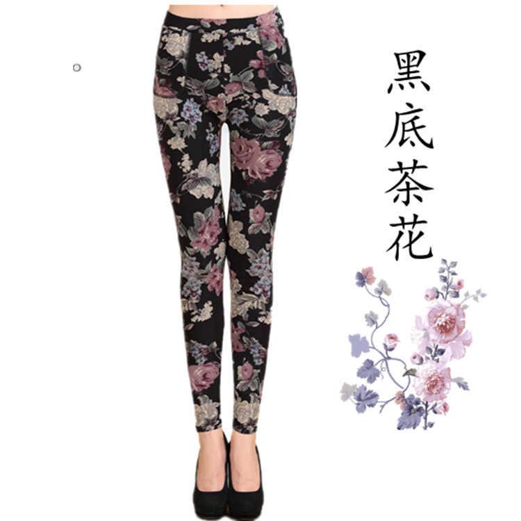 c73820a01adc3c 2018 New Arrival autumn winter Style Plus Velvet leggings Women  high-elastic Plus size XXXL