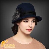 Women S Fashion Cap Women Ladies Hat Small Fedoras Hat Cloche Headwear Female Wool Party Cap
