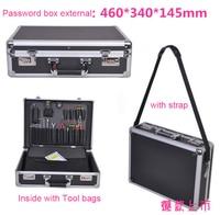 Aluminum alloy toolbox large suitcase Multifunction Shockproof aluminum case Incorporated Model box Instrument box Equipment box