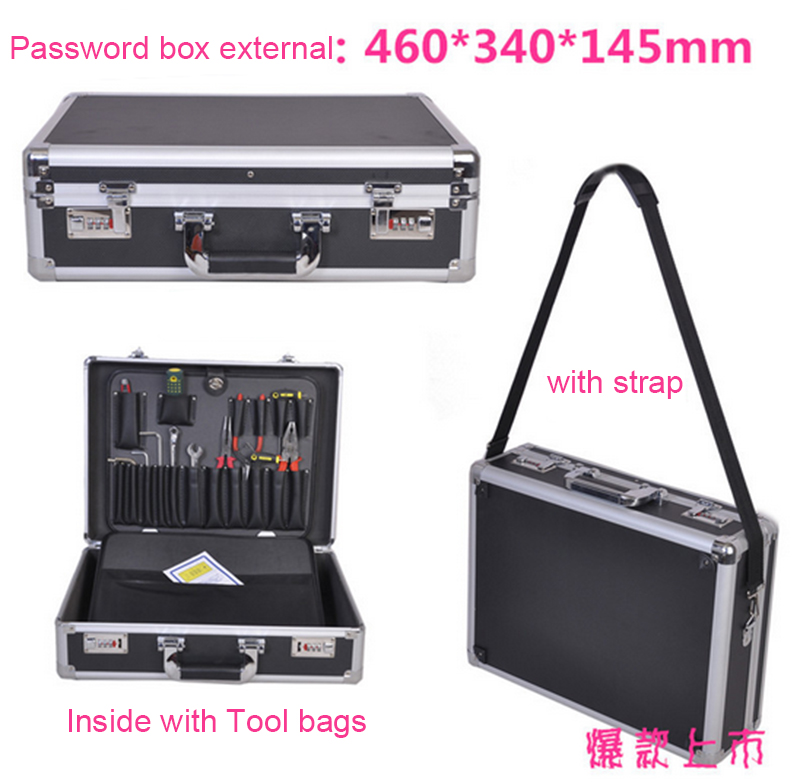Aluminum Alloy Toolbox Large Suitcase Multifunction Shockproof Aluminum Case Incorporated Model Box Instrument Box Equipment Box