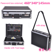 Aluminum alloy toolbox large suitcase Multifunction Shockproof aluminum case Incorporated Model box Instrument box Equipment box kundui suitcase women men travel bag thickening aluminum alloy laptop large toolbox lockable storage display box briefcase