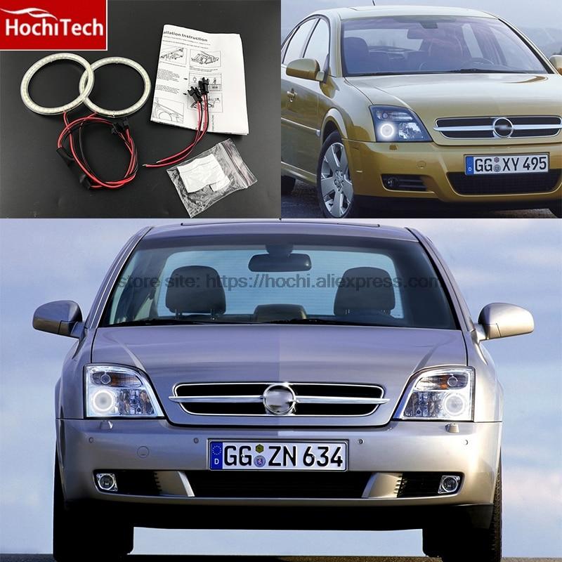 HochiTech Ultra bright SMD white LED angel eyes 2000LM 12V halo ring kit daytime running light DRL for Opel Vectra C 2002-2004 цена