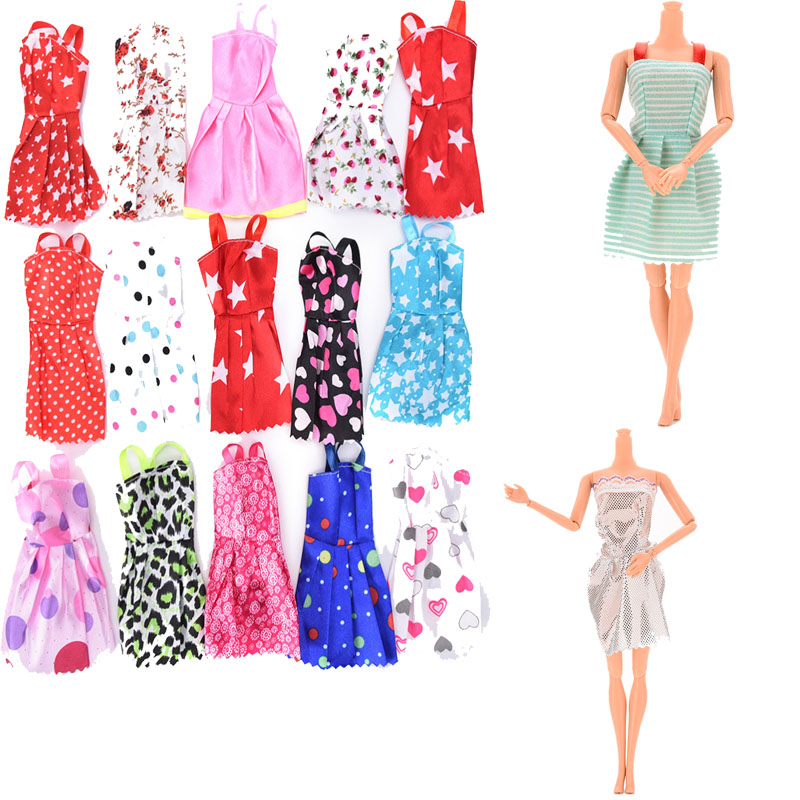 """10Pcs Handmade DIY Party Dresses Clothes For 11/"""" Doll Style Random Kids Gifts"""