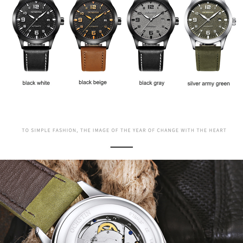Marca de luxo superior ochstin relógio automático