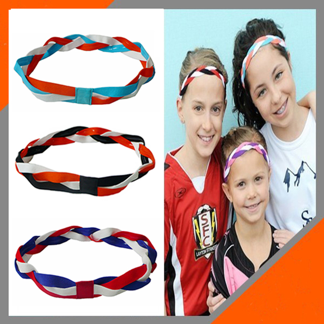 Softball Baseball Sports Braided Headbands Sweat Silicone Non Slip Scrunchy Girl  Soccer Elastic Hair Bands ccaabdbff4a