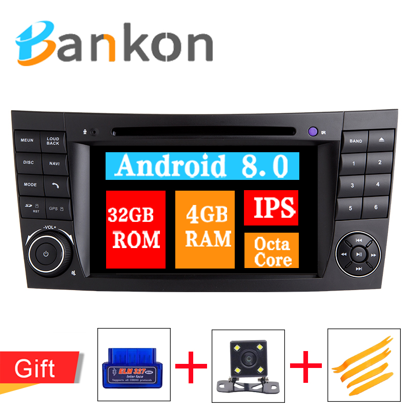 Octa Core Android 8.0 Radio GPS HDMI Car DVD Player For MMercedes Benz E-Class W211 E200 GLS CLK W219 IPS Wifi Canbus OBD DSP FMOcta Core Android 8.0 Radio GPS HDMI Car DVD Player For MMercedes Benz E-Class W211 E200 GLS CLK W219 IPS Wifi Canbus OBD DSP FM