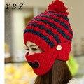 Новая Мода Многофункциональный Зимние Шапки для Женщин Теплый Skullies Рождество стиль Шапочка Hat Маска Ветрозащитный Шапки casquette femme M12