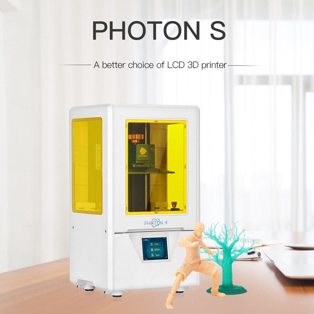 Photon-S 3D ANYCUBIC de impressora Kit com Resina SLA 2 K Tela Luz UV Impressora Desktop 3D Kit impresora 3d