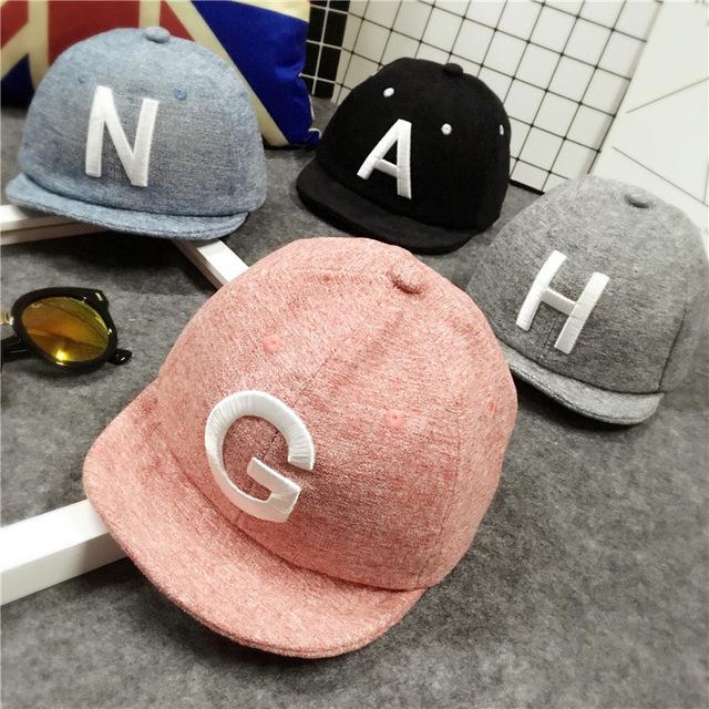 Summer Autumn Letter Baby Baseball Caps Baby Boy Girls Adjustable Snapback Caps Hip Hop Baby Boy Hats Sun Hat Baby Accessories