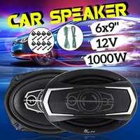 1 Pair 6x9 Inch 1000W 4 Way Car Coaxial Hifi Speaker Vehicle Door Auto Audio Music Stereo Full Range Frequency Loudspeaker
