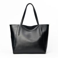 Simple Big Bags Woman Split Leather Practical Female Shoulder Bags Popular Solid Color Ladies Fashion Bag