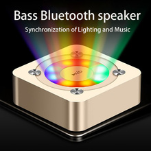 Smart Bluetooth speakers classic portable stereo surround sound HD call denoise LED flashing lights Voice prompt suport TF card hifi smart bluetooth earphones biaural stereo surround sound denoise waterproof charging box hd call biaural separation design