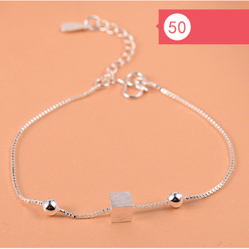 925 Sterling Silver Flower Star Charm Bracelet For Women Girls Luxury Brand Heart Cute Anklet Jewelry Pulseras Mujer 4
