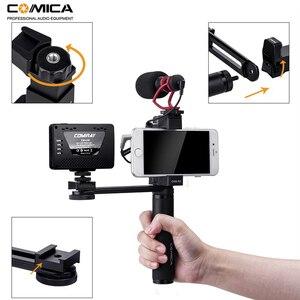 Image 5 - Comica CVM R3 смартфон видео Rig Рукоятка Ручка стабилизатор комплект для iPhone X 8 7 6s Plus для Samsung Huawei и т. Д.