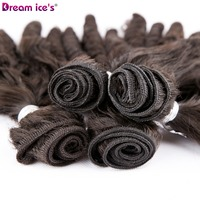 Funmi Curly Hair Weaving Synthetic Hair Bundles 16 2 18 2 For Full Head 4 Bundles