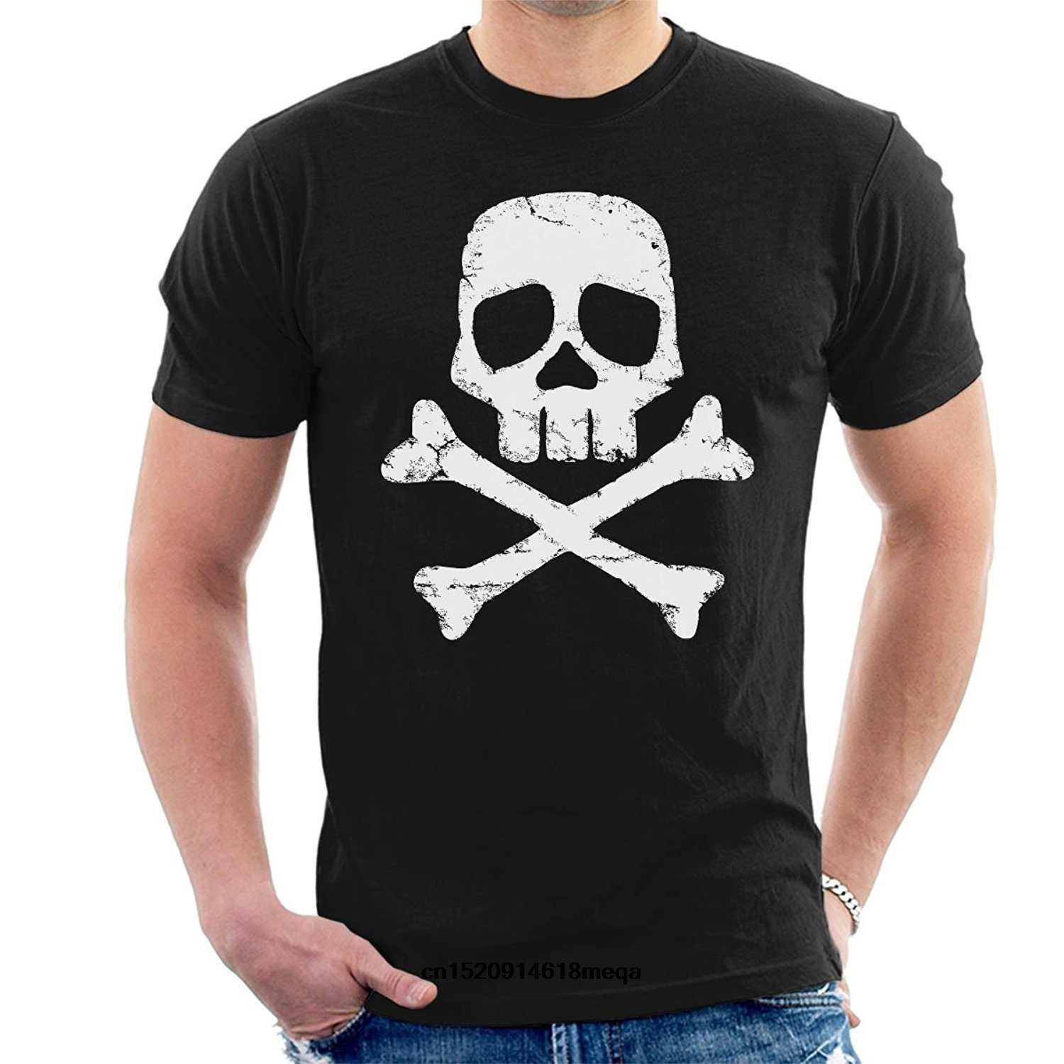T-shirt Space Pirate Captain Harlock Schedel En Cross Bones mannen Korte Mouw T-Shirt