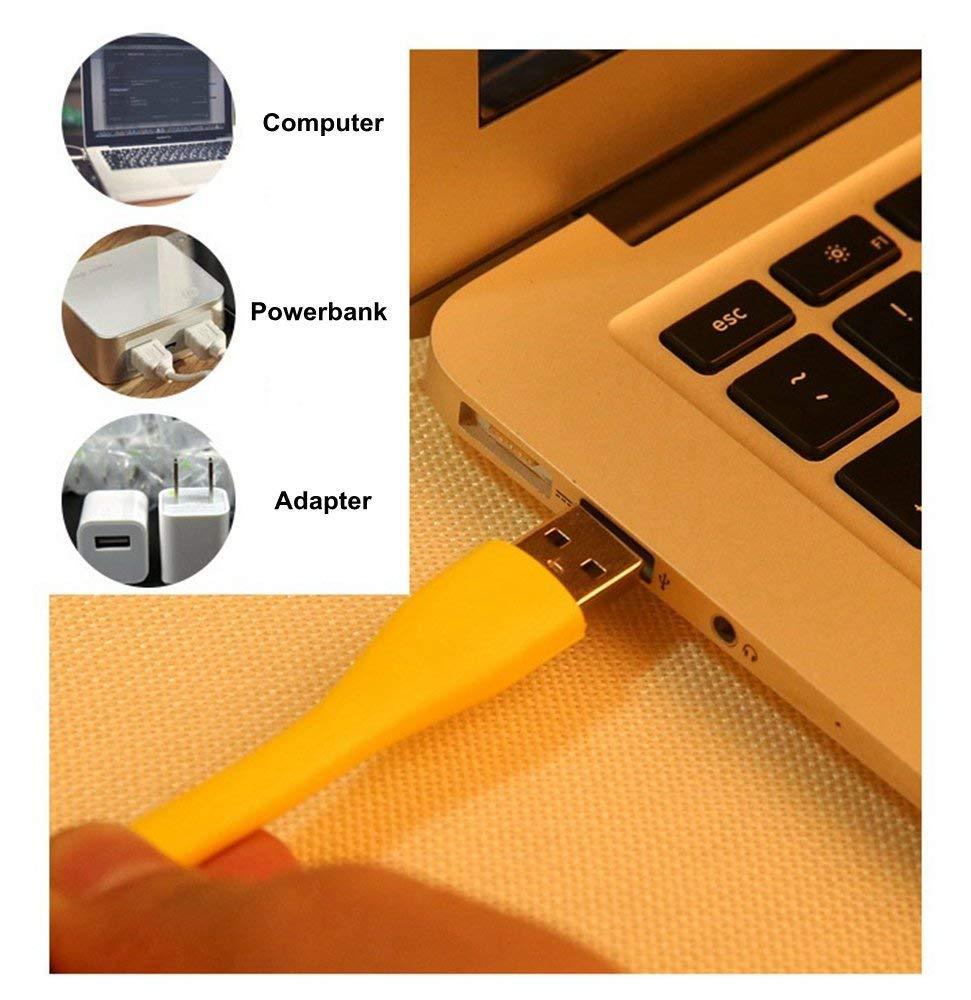 Yospern Book Light Mini USB LED Light 5V 1.2W Power Bank Reading Light Portable LED Lamp 9 colors USB Night Lights(1pcs) 6