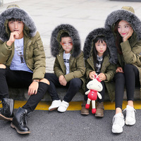 45 Degree Russia Boys Winter Down Coat Father and Son Clothes Jacket Mother and Daughter Dress Clothes Family Matching Outfits