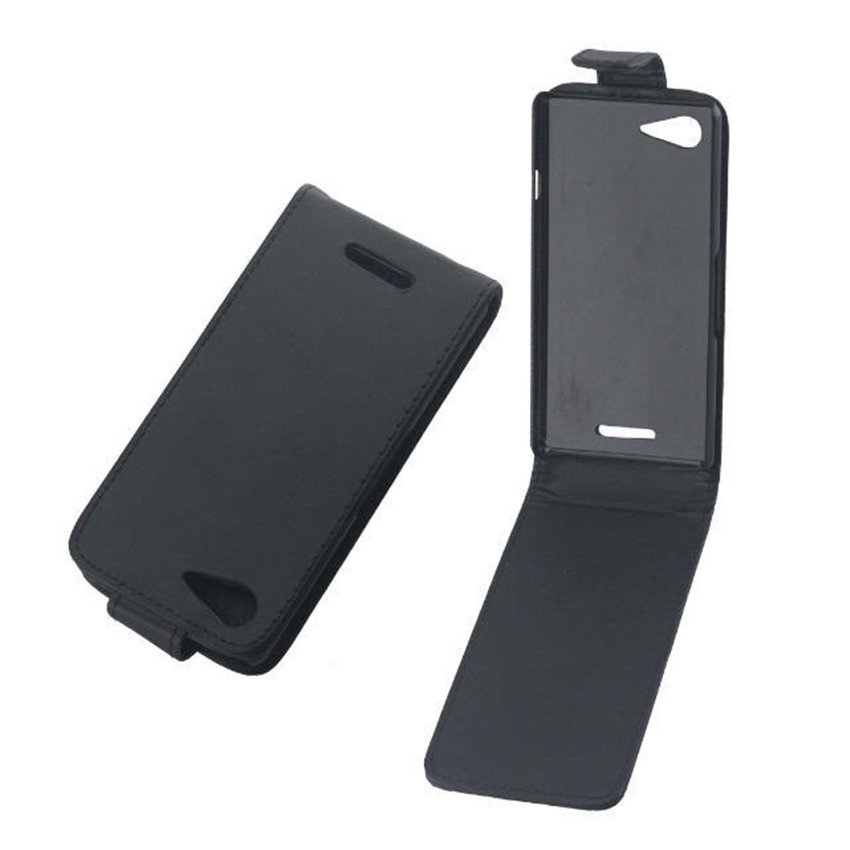 Coque PU leather phone cases Flip Cover For <font><b>Sony</b></font> <font><b>Xperia</b></font> <font><b>E3</b></font> <font><b>D2203</b></font> D2206 Back Phone Bags Vertical Up-Down Open skin pouch image