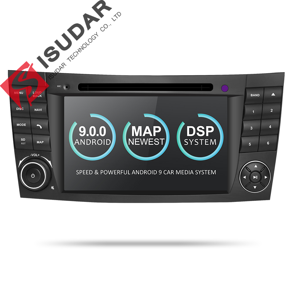 Isudar Two Din Car Multimedia Player Android 9 DVD Player For Mercedes/Benz/E-Class/W211/E300/CLK/W209/CLS/W219 GPS Radio CANBUS