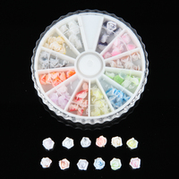 3D DIY Rose Flower Nail Art Decorations Accessories Mix Color Nail Craft 6mm Polymer Clay Set