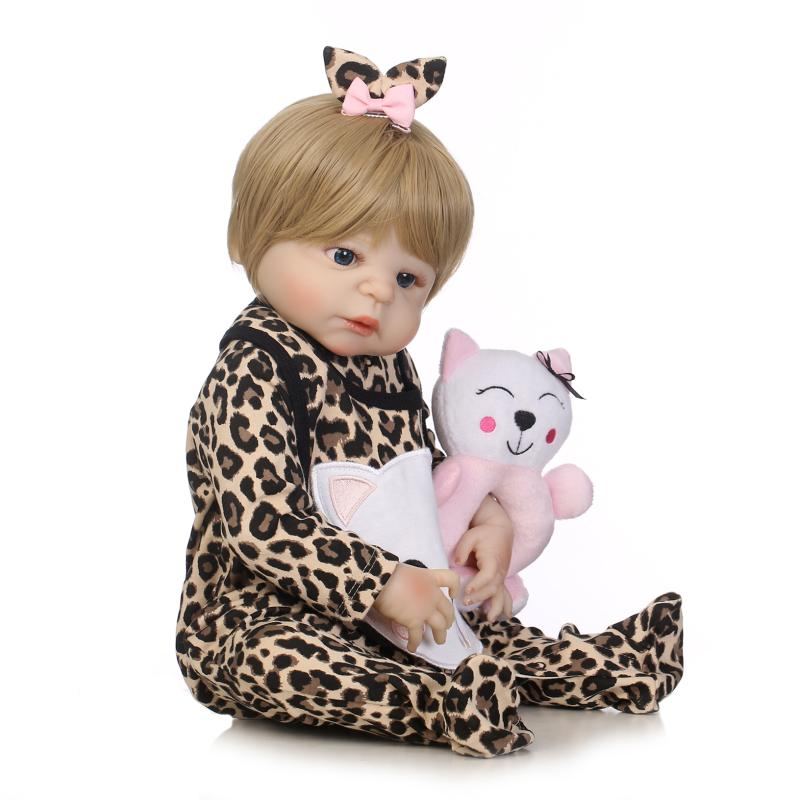 Nicery 22inch 55cm Bebe Reborn Doll Hard Silicone Boy Girl Toy Reborn Baby Doll Gift for Child Leopard Print Clothes Baby DollNicery 22inch 55cm Bebe Reborn Doll Hard Silicone Boy Girl Toy Reborn Baby Doll Gift for Child Leopard Print Clothes Baby Doll
