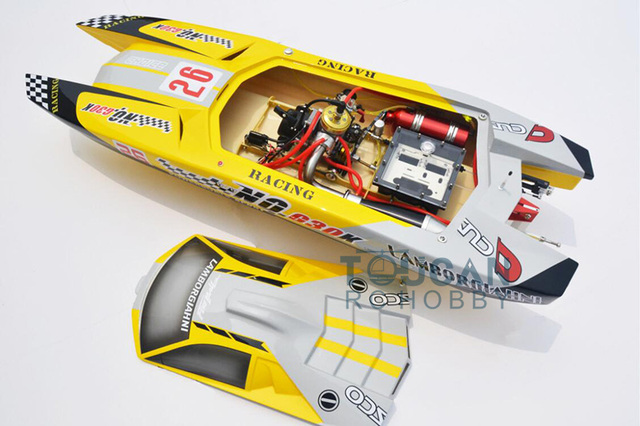 G30K ARTR Fiberglass RC Racing Boat 30CC Engine Water Cooling Sys Exhaust' Sys Yellow TH02705 2
