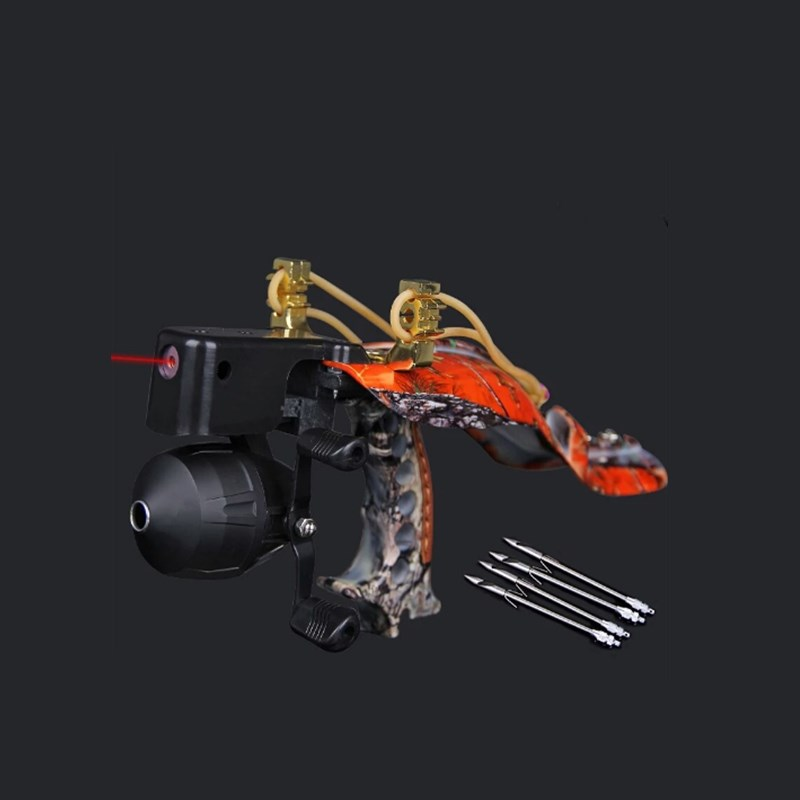 2019 high quality laser slingshot black hunting bow fishing outdoor strong shooting